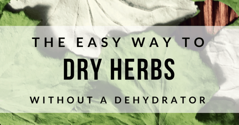 How to Dry Herbs–without a Dehydrator!
