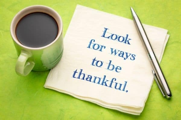 Thankfulness helps us have a new perspective and rise above stress