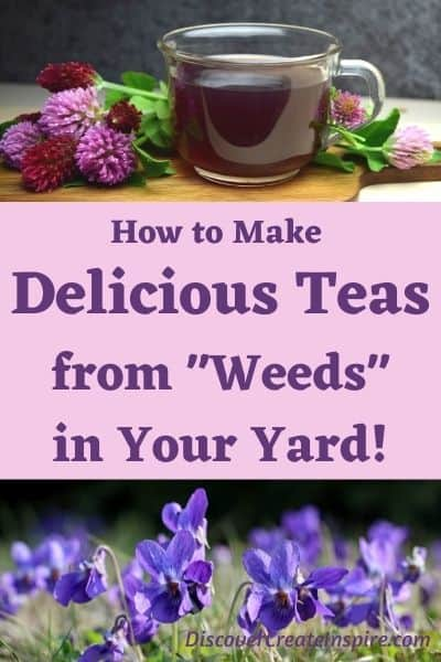 How to Make Delicious Teas from Weeds in Your Yard DiscoverCreateInspire.com