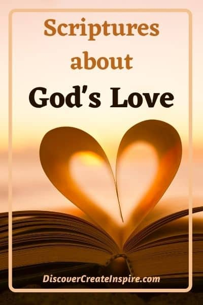 Scriptures about God's love for people. DiscoverCreateInspire.com